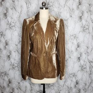 Adrienne Vittadini crushed velvet blazer Size 10